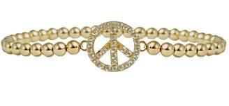 Jaimie Nicole Gold Peace-Sign Bracelet