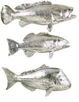 Twos Company Fish Wall Displays (Set of 3)
