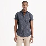J.Crew Secret Wash short-sleeve shirt in classic navy floral