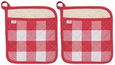 Now Designs Superior Potholders, Set of Two, Picnic Check Red