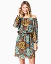 Charming charlie Paisley Ruffle Dress