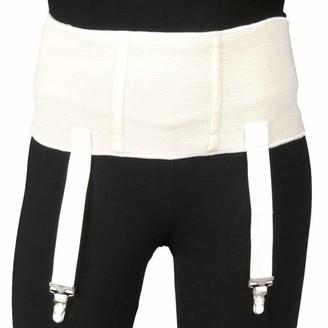 Truform Heavy Duty Garter Belt for Compression Stockings, White, Large