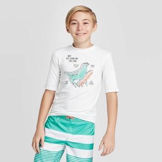 Cat & Jack Boys' Short Seeve Sea ions Are Coo Rash Guard Swim Shirt - Cat & JackTM