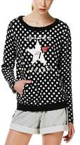 Liu Jo Women's Black Cotton Sweatshirt.