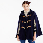 J.Crew Toggle cape in wool cashmere