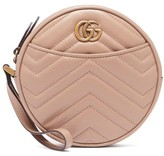 Gucci GG Marmont Circular Leather Wristlet Pouch - Womens - Nude