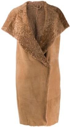 Herno cap sleeve hooded coat
