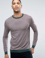 Asos Crew Neck Sweater with Contrast Hem