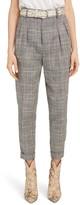 Isabel Marant Linen & Silk Blend Pleated Pants