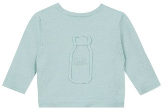 Absorba Milk Bottle Embroidered Sweater (0-12 Months)