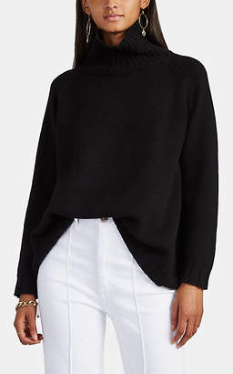 Barneys New York Women's Oversized Cashmere Turtleneck Sweater - Black