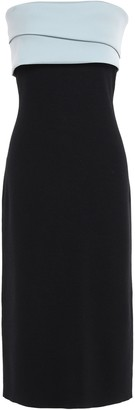 Sachin + Babi Lais Strapless Two-tone Twill-paneled Stretch-knit Dress