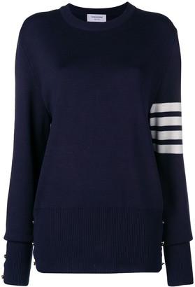 Thom Browne 4-Bar Milano Stitch Silk Pullover