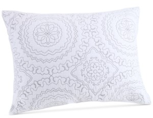 Jessica Simpson Cotton Medallion Gray Quilted Standard Sham