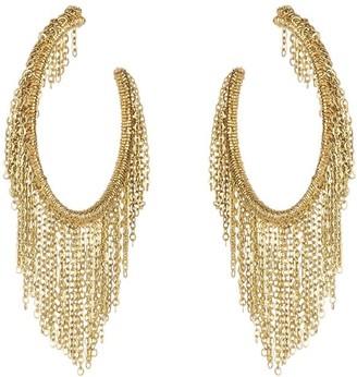 Oscar de la Renta Fringe Hoop Earrings