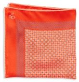 Canali Dotted Silk Pocket Square