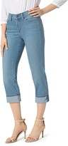 NYDJ Dayla Cuffed Cropped Jeans in Jet Stream