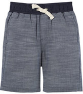 Andy & Evan Cotton Chambray Drawstring Shorts, Blue, Size 3-24 Months