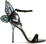 Sophia Webster Black and Silver Chiara Sandals