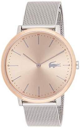 Lacoste Women's Moon Ultra Slim Stainless Steel Quartz Watch with Mesh Bracelet Strap