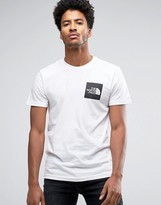 The North Face Fine T-Shirt Square Logo in White