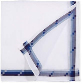 Simonnot Godard Men's Triple-Line Woven Pocket Square