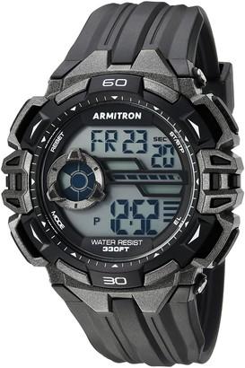 Armitron Sport Men's 40/8411GBK Gunmetal Accented Digital Chronograph Black Resin Strap Watch