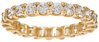 Diamonique Round Eternity Band Ring, 14K Gold