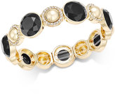 Charter Club Gold-Tone Pavé Colored Stone Stretch Bracelet, Only at Macy's