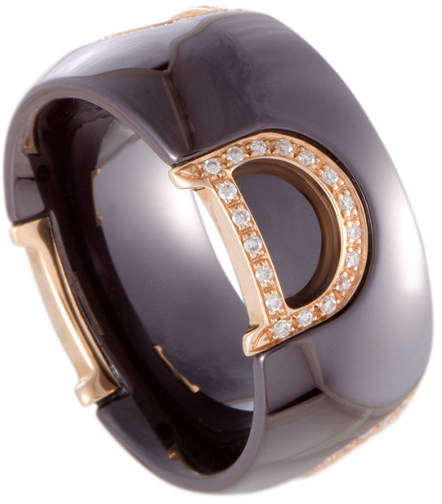 Damiani 18K 0.21 Ct. Tw. Diamond Ring
