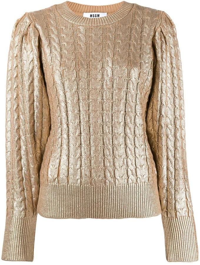 MSGM metallic knitted jumper