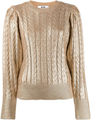 MSGM metallic knitted jumper