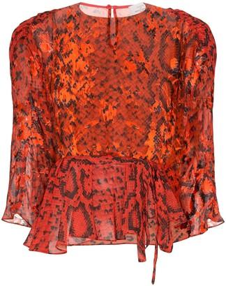 Preen by Thornton Bregazzi Delma snake print blouse