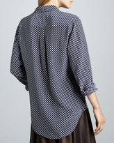 Equipment Signature Polka-Dot Blouse