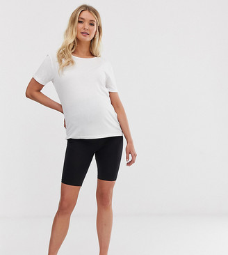 Mama Licious Mama.Licious Mamalicious maternity over the bump shapewear shorts-Black