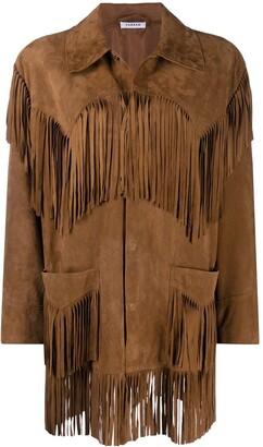 P.A.R.O.S.H. Fringe Long-Sleeve Jacket