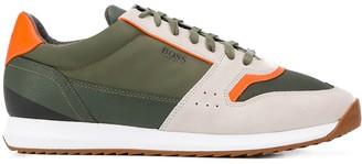 BOSS colour-block low-top sneakers