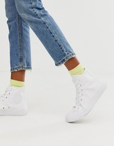 Converse Chuck Taylor All Star Hi White Monochrome Sneakers