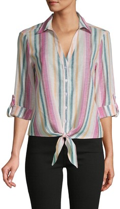 Supply & Demand Lil Stripe Knotted Shirt