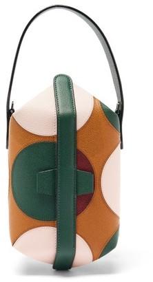 Valextra X La DoubleJ Tric Trac Polka-dot Leather Bag - Tan Multi
