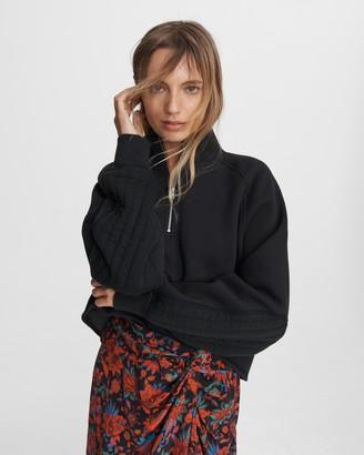 Rag & Bone Fleece cutoff cotton blend sweater