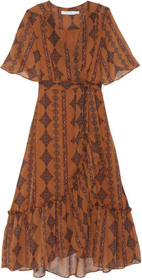 Bishop + Young Women's Delfina Wrap Dress In Color: Zoya Print Size XS From Sole Society