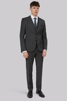 DKNY Slim Fit Black & White Pindot Suit