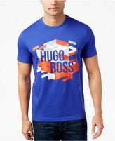 HUGO BOSS Green Men's Graphic-Print T-Shirt