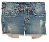 True Religion Toddler's, Little Girl's & Girl's Bobby Distressed Shorts
