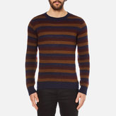 Oliver Spencer Men's Ola Crew Neck Jumper Caramel Multi