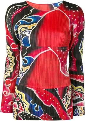 Pleats Please Issey Miyake pleated long-sleeved top