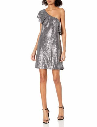 Kensie Women's One Shoulder Sequin Dress