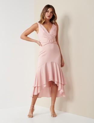 Forever New Sienna Buckle Midi Dress - Blush - 10