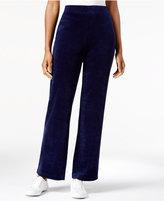 Karen Scott Pull-On Velour Pants, Created for Macy's